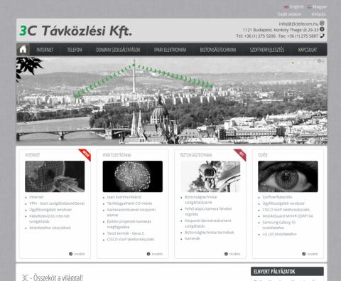3C Távközlési Kft. honlapja - GevaPC fejlesztéssel és sminkkel