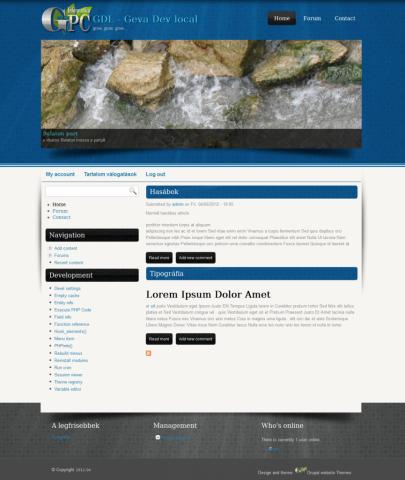 Nyitó oldal - drupal 7 theme