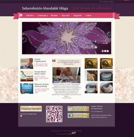 Selyemfestés-Mandalák világa - GevaPC fejlesztés és Drupal smink