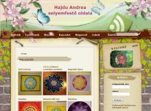 Hajdú Andrea selyemfestő - Selyemmandala, GevaPC Drupal sminkelés