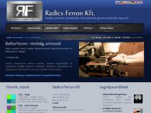 Radics-Ferron Kft honlap nyitóoldala és smink - Geva fejlesztés