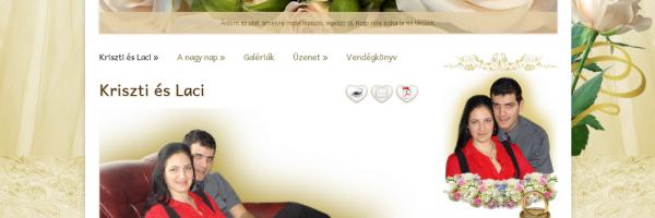 Kriszti és Laci esküvő honlap - GevaPC honlap és smink készítéssel