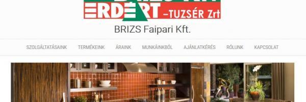 Brizs Faipari Kft honlap nyitóoldal