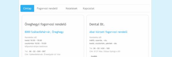 dr Lukácsy József fogszakorvos honlapja - GEvaPC honlap és smink