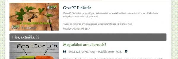 GevaPC Tudástár 2017 smink