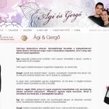 Ági és Gergő esküvői honlap - nyitóoldal az esküvő előtt, GevaPC honlap