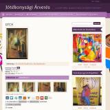 Jótékonysági árverés - árverezett alkotás oldala, GevaPC fejlesztésű Drupal honlap és smink