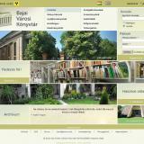 Könyvtár kezdő oldala a fő menüvel és a legfontosabb funkciókkal