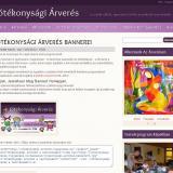 Jótékonysági árverés - bannerek weboldal tulajdonosok számára, GevaPC fejlesztésű Drupal honlap és smink