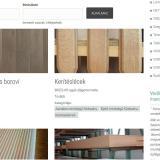 Brizs Faipari Kft honlap - termékkereső
