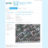 dr Lukácsy József fogszakorvos honlap belső oldal - GEvaPC honlap és smink