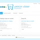 dr Lukácsy József fogszakorvos honlap nyitóoldal - GEvaPC honlap és smink