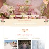 Esküvői weboldal - a nagy nap, bemutató nyitóoldala
