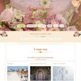 Esküvői weboldal - bemutató oldal