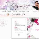 Ági és Gergő esküvői honlap - esküvői online meghívó, GevaPC fejlesztés