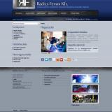 Radics-Ferron Kft honlap egy belső oldala