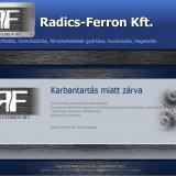 Radics-Ferron Kft honlap karbantartás oldal