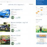 TURBO Autósiskola honlap - Jelentkezéshez nyitott képzés-, naptári oldalak